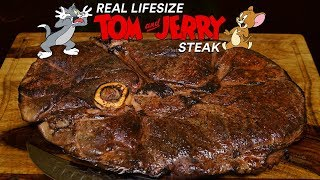 Giant TOM and JERRY Steak! Is it AMAZING?