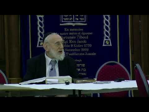 Cours du Grand Rabbin de Paris Michel Gugenheim du 23 décembre 2012