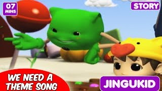 We Need A Theme Song | 3D Animated Rhymes | Dance Videos for Kids | Let's Play with Boom Chiki Boom