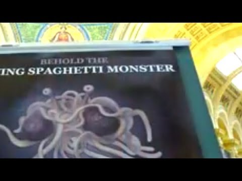 Flying Spaghetti Monster Joins Baby Jesus In Holiday Display - Smashpipe News
