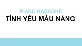 Tính yêu màu nắng Karaoke   Piano Karaoke #2   Bội Ngọc Piano