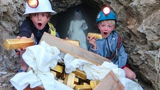 WE FOUND REAL TREASURE IN GHOST HAUNTED GOLD MINE!