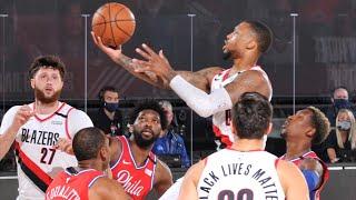 Damian Lillard 51 Points vs 76ers! 2020 NBA Restart