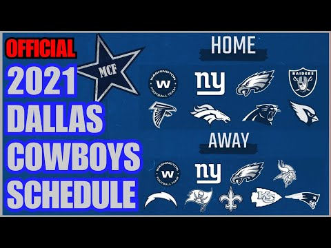 ✭ 2021 DALLAS COWBOYS REGULAR SEASON SCHEDULE ✭ Let Us Know What You Think & Your W-L Predictions!