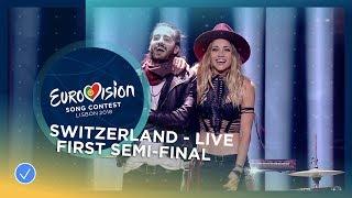 ZiBBZ - Stones - Switzerland - LIVE - First Semi-Final - Eurovision 2018