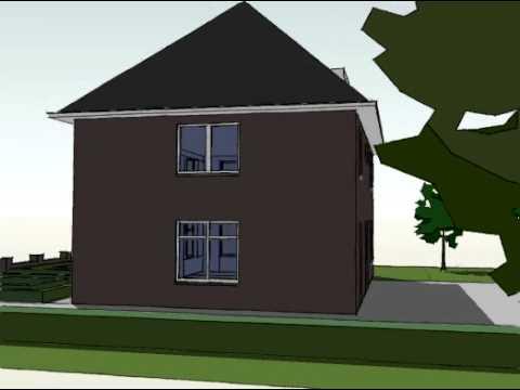 Voorbeeldplan nieuwbouw woningontwerp KB840 3D