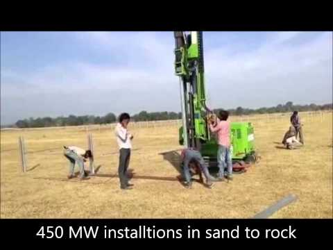 High speed ramming of Solar PV foundations