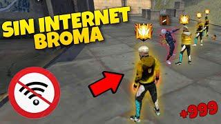NOS HACEMOS pasar SIN INTERNET en DUELO DE ESCUADRA CLASIFICATORIA #2 *Broma* Free Fire