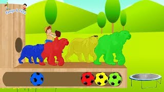 Learn colors with wood frame - Learn colors for kids