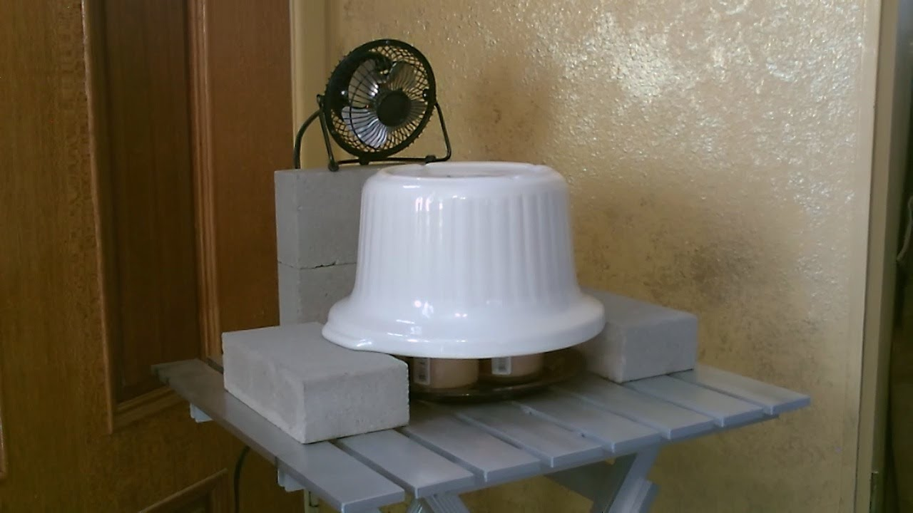Candle Powered Quot Stoneware Quot Air Heater W Fan Diy