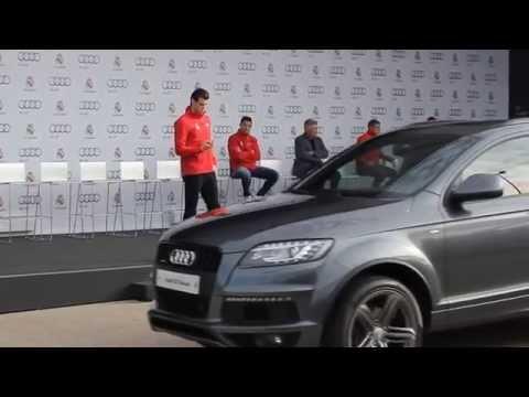 Entrega de coches Audi a los jugadores del Real Madrid