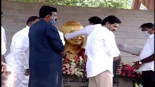 CM YS Jagan pays homage to Dr YSR at Idupulapaya LIVE..