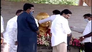 CM YS Jagan pays homage to Dr YSR at Idupulapaya LIVE..