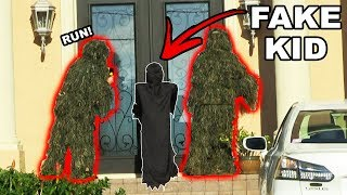Ding Dong Ditch In GHILLIE SUITS (Halloween Edition)
