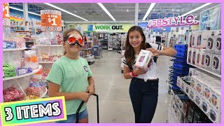 "3 ITEMS SHOPPING CHALLENGE "" MYSTERY STORE "" 