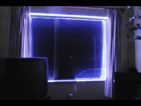 Led Strip Lights Simple Installation Around A Window