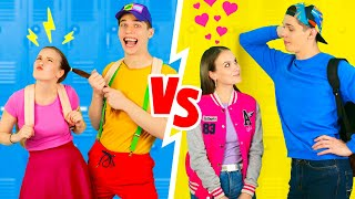 COOLEST HIGH SCHOOL YOU VS CHILD YOU || Back To School! Relationship Teen Moments By 123 GO! BOYS