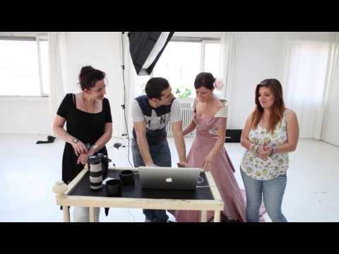 Backstage photo shooting