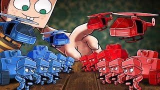 Minecraft   RED BASE VS BLUE BASE! (ARMY SOLDIER FORT WARS)