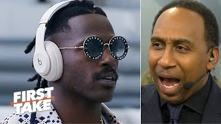 Stephen A. reacts to Antonio Browns' tweets: Don't allow him back this season!   First Take