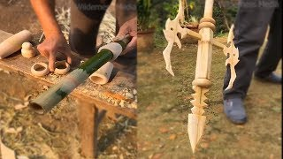 Awesome ideas old man use bamboo make furniture weapon...