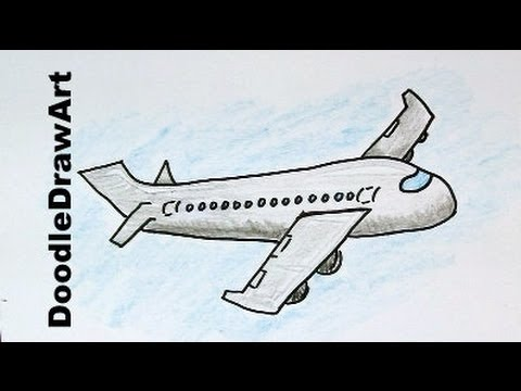 How To Draw a Cartoon Airplane - Easy Drawing Lesson for ...