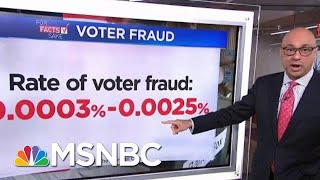 For Fact's Sake: President Donald Trump Is Wrong About Voter Fraud | Velshi & Ruhle | MSNBC