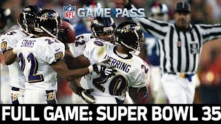 A Dominant Defense Makes History Super Bowl 35 Ravens vs. Giants FULL GAME