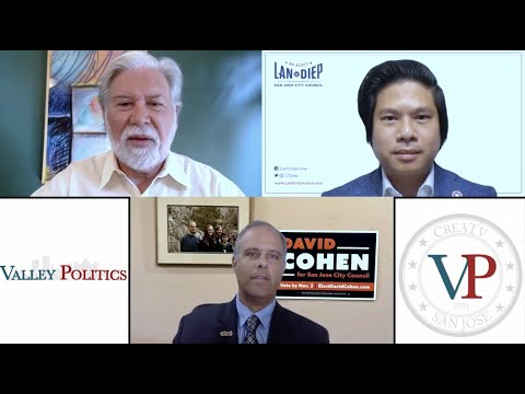 """<h2>Valley Politics October 2020</h2>Valley Politics October 2020: San Jose City Council Candidates David Cohen and Lan Diep with Guest Questions<p> <a href=""""https://www.creatvsj.org/valley-politics/"""">Click to watch</a></p>"""