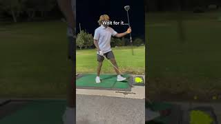 They gave him a wooden driver and he still delivered 😳👏 | #Shorts