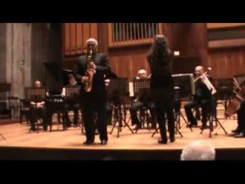 Jacques Ibert Concertino da camera for sax and orchestra Francesco Salime sax