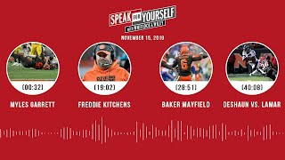 Myles Garrett, Baker Mayfield, Deshaun vs. Lamar | SPEAK FOR YOURSELF Audio Podcast