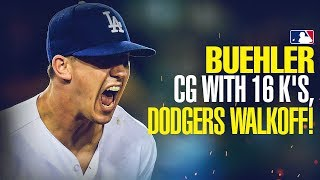 Walker Buehler dominates Rockies with 16 K's, Dodgers walk-off!!