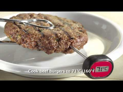 Video: This video demonstrates how easy it is to use a food thermometer. Helping you take the guesswork out of cooking.