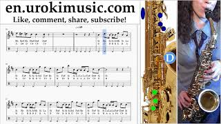 Saxophone lessons (Alto) Axel F - Crazy Frog Sheet Music Tutorial um-i352