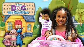 Olivia Takes Her SICK BABY ALIVE TWINS to VISIT DOC McSTUFFIN !!!