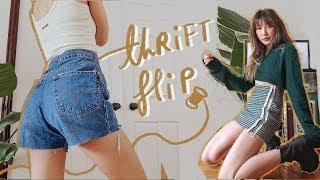 THRIFT FLIP // diy urban outfitters for ur inner hipster - YouTube