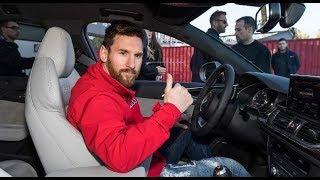 ليونيل ميسي يحصل على سيارة اودي جديدة مع زملائه في برشلونة ...