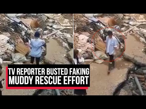 TV Reporter fired for smearing herself with mud, pretending to help clean up after floods