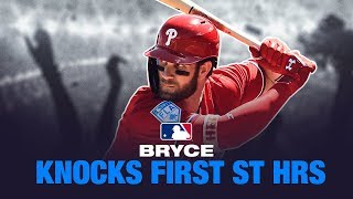 Bryce Harper CRUSHES his first two HRs of the spring
