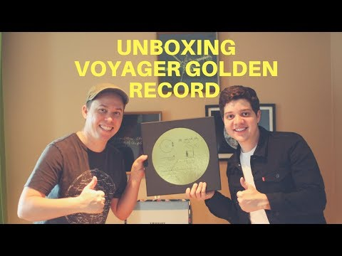 Unboxing the The Voyager Golden Record from Kickstarter