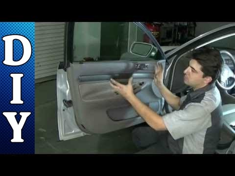 How to remove and replace a door panel audi a4 for 2003 audi a4 rear window regulator replacement
