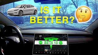 Tesla Self Driving Beta 10 Software Update | Initial Drive and Impressions | FSD Beta 2020.48.35.1