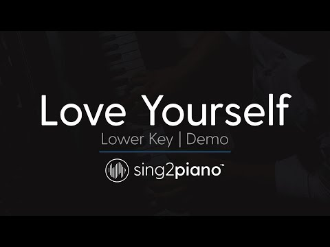 Love Yourself (Female Key - Piano Karaoke Demo) Justin Bieber
