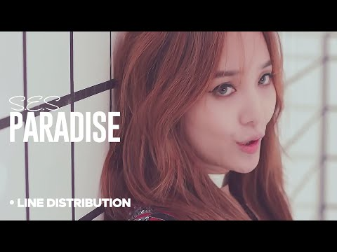 S.E.S - Paradise : Line Distribution (Color Coded)