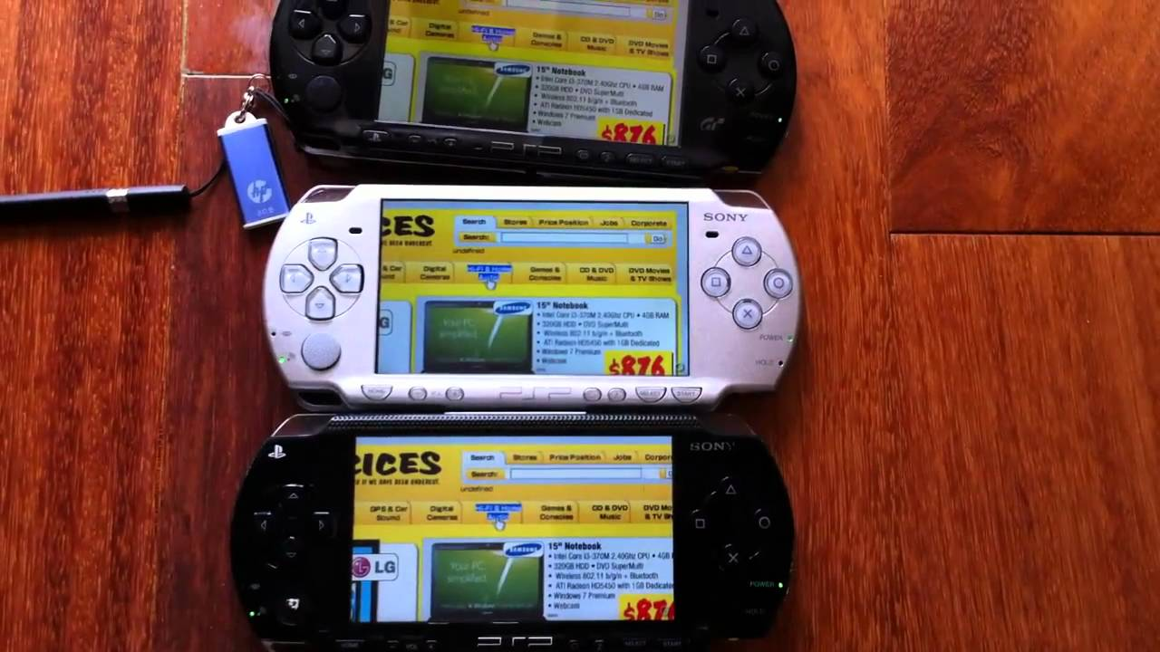 PSP 1000 vs PSP 2000 vs PSP 3000 Speed Comparison - YouTube