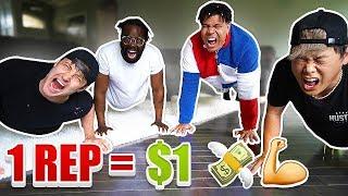 1 REP = $1 DOLLAR (10,000 PUSH UP CHALLENGE W/ TEAM ALBOE!!)  *PART 2*