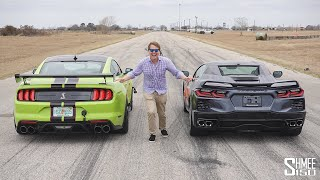 Can the Corvette C8 Beat My Shelby GT500 in a Drag Race?