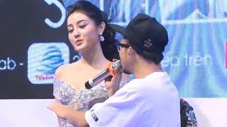 Á hậu Huyền My rung động trước màn tán tỉnh của các rapper Việt