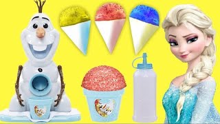 OLAF SNOW CONE MAKER with Queen Elsa, Princess & Anna | Toys Unlimited